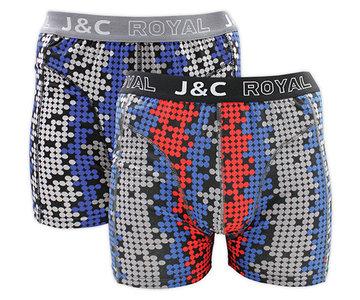 H234-30047 2-pack Heren Boxershort bol Grijs/Rood