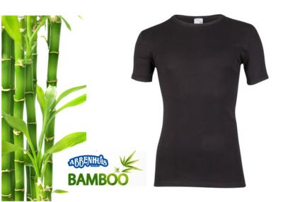 Bamboe heren T-shirt met korte mouw Zwart