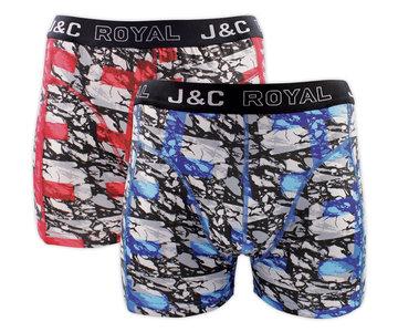 H238-30055 2-pack Heren Boxershort Rood/Blauw