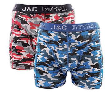 H235-30050 2-pack Heren Boxershort Camouflage Rood/Blauw