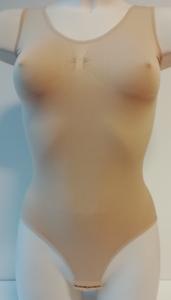 Dames body met breed bandje slipmodel Huid